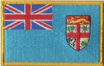 Fiji Embroidered Flag Patch, style 08